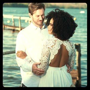 Lulu's bridal white dress Size M